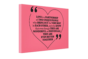 Love Quote on Canvas Prints