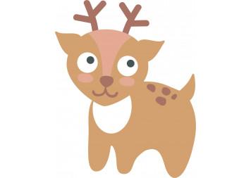 Cute Baby Deer Wall Decals