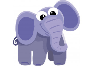 Cute Baby Elephant Wall Decals