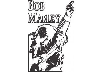 Bobmarley singing Wall Decals