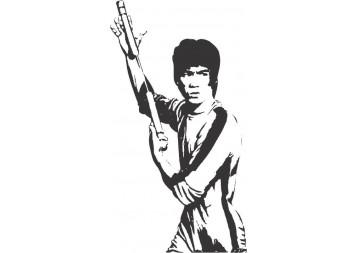 Bruce Lee Art Wall Decals