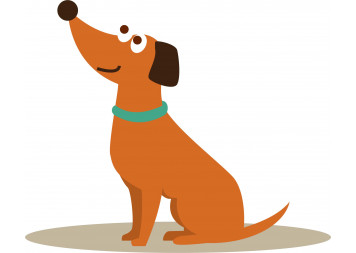 Brown Dog Wall Decals