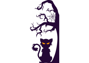 Amazing Halloween Cat Wall Decals