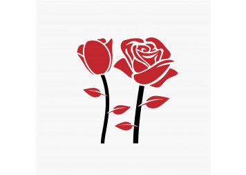 Best Red Rose Wall Decals