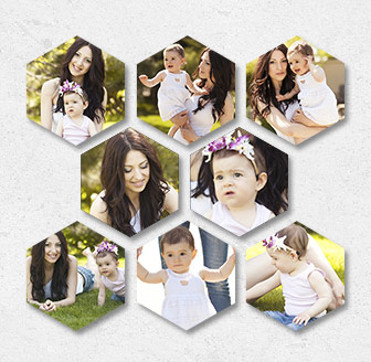 Horizontal Hexagonal Prints Bundle of 8