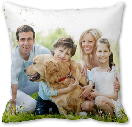 Personalised cushion for loved ones