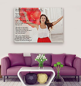 Lyrics on Canvas