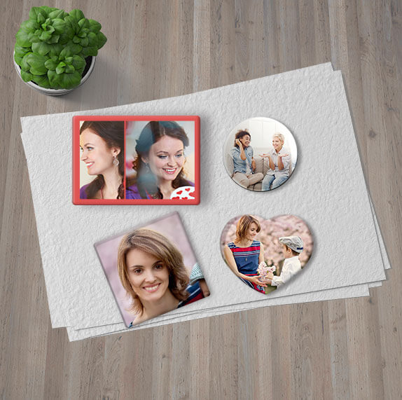 personalised photo magnet